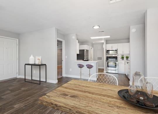 Model living room showcasing open floor plans