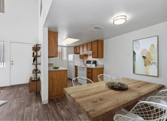 Model kitchen and dining