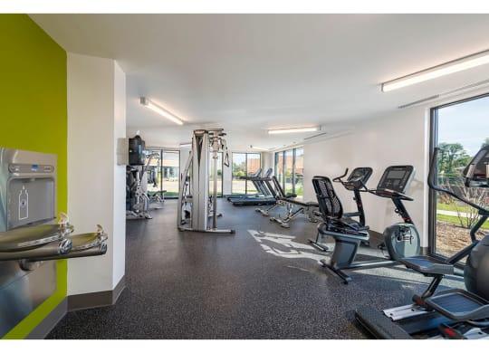 Fitness Center Cardio Equipment at Apex Apartments, Arlington, VA
