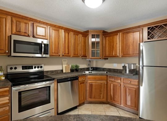 Kitchen at The Riverwood, Lilydale, MN