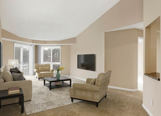 Living Room at The Riverwood, Lilydale, MN, 55118