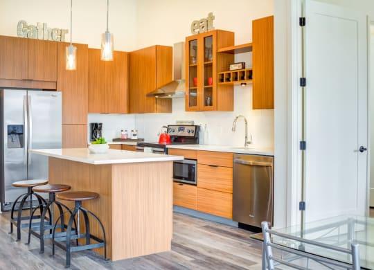 Kitchen area at Central Park West, St. Louis Park, MN