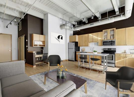 Studio Loft Apartment at Lowertown Lofts, St. Paul, Minnesota