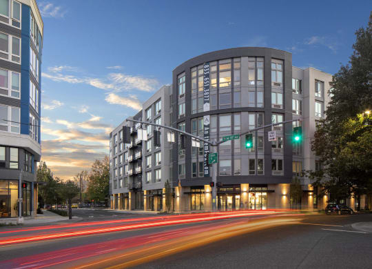 Anthem PDX Apartments Building Exterior and Street