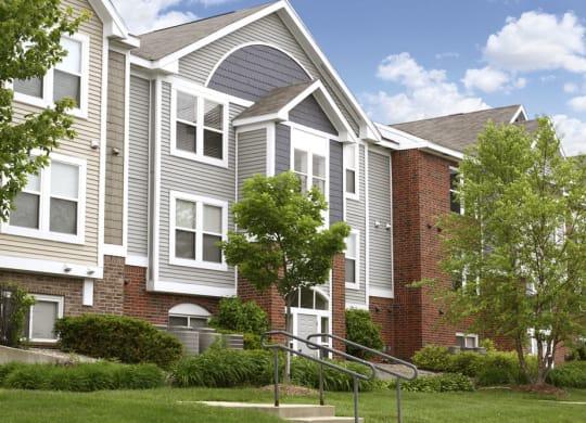 Beautiful Apartment Exteriors at Autumn Lakes Apartments and Townhomes, Mishawaka, Indiana