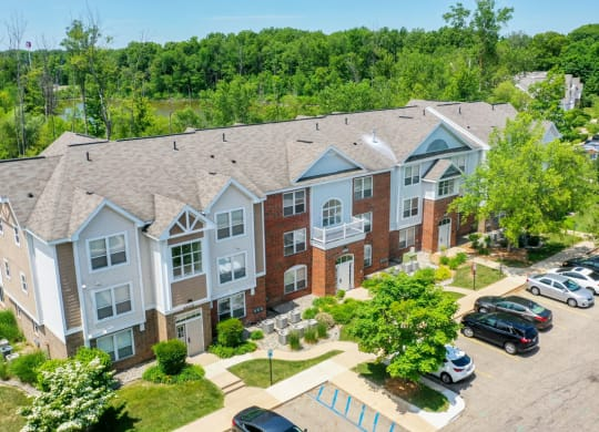 Aerial View Of The Property at Canal 2 Apartments, Lansing, Michigan