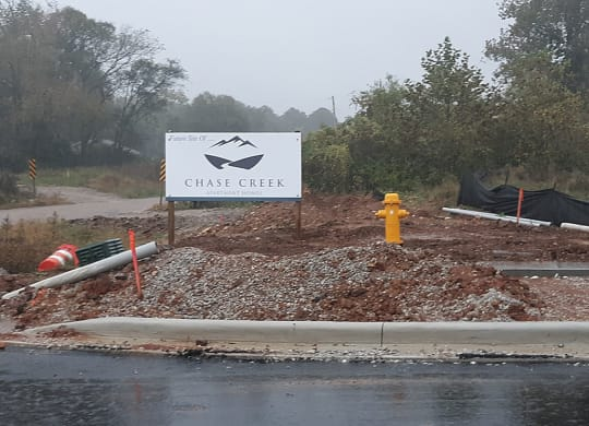 Construction Work at Chase Creek Apartment Homes, Huntsville