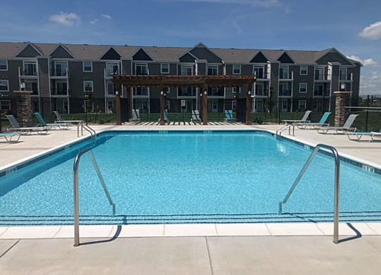 Nice Pergola on Large Sundeck at Copper Creek Apartment Homes in Maize, Kansas