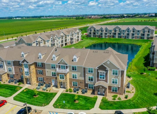 Aerial View Of The Property at Fieldstream Apartment Homes, Ankeny, IA