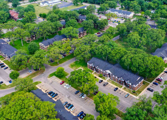 Aerial View Of The Property at Glen Oaks Apartments, Michigan