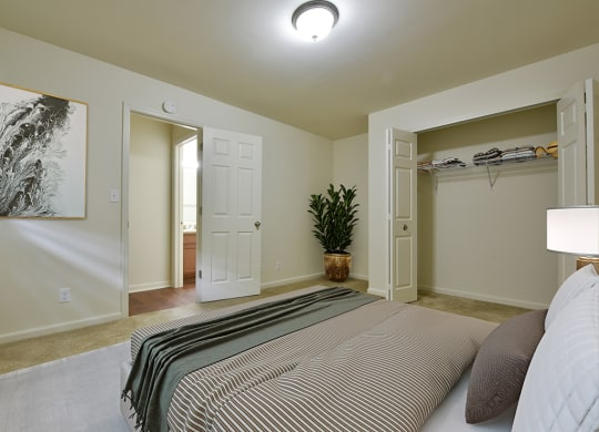 Bedroom with Large Closet Large Closets with Organizers at Grand Bend Club Apartments, Grand Blanc, 48439