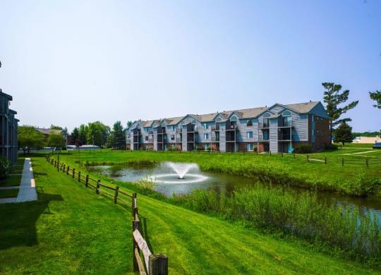Large Pond within Community at Green Ridge Apartments, Michigan