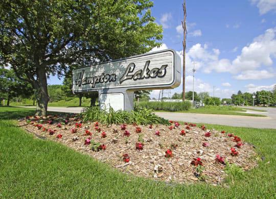 Property Entrance Sign at Hampton Lakes Apartments, Walker
