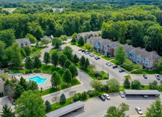 Aerial View Of The Community at The Highlands Apartments, Elkhart, IN, 46514