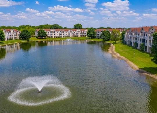 Pond Community View at Indian Lakes Apartments, Mishawaka, Indiana
