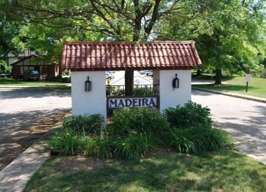 Entrance Sign at Madeira Apartments, Michigan