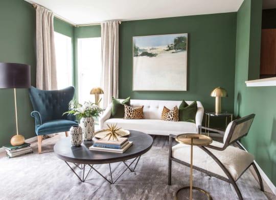 Classic Living Room Design at Enclave Apartments, Midlothian, VA
