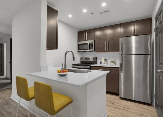 Newly Refurbished Kitchen and Cabinetry at Sundance Apartments, Indiana, 46237