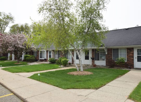 Expertly Landscaped Grounds at Newport Village Apartments, Portage, Michigan