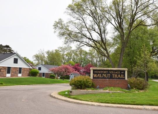 Entry Signage at Newport Village Apartments, Michigan