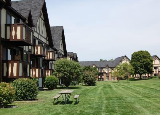 Picnic Areas at Normandy Village Apartments, Indiana