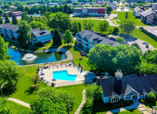 Lush Surroundings at North Pointe Apartments, Elkhart, Indiana