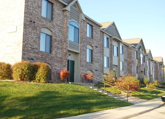 Stair Walkways to Apartments at Oak Shores Apartments, Wisconsin, 53154