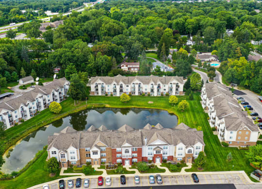 Aerial View of Apartments at Orchard Lakes Apartments, Toledo, OH 43615