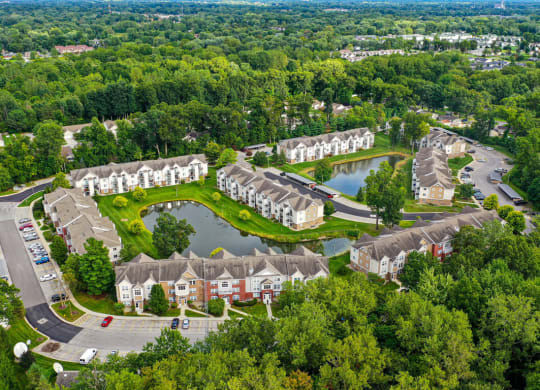 Aerial View of Property at Orchard Lakes Apartments, Ohio 43615