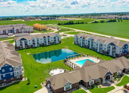 Overhead View Of The Community at The Reserve at Destination Pointe, Grimes