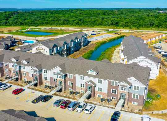Aerial View Of The Property at Strathmore Apartment Homes, West Des Moines, Iowa