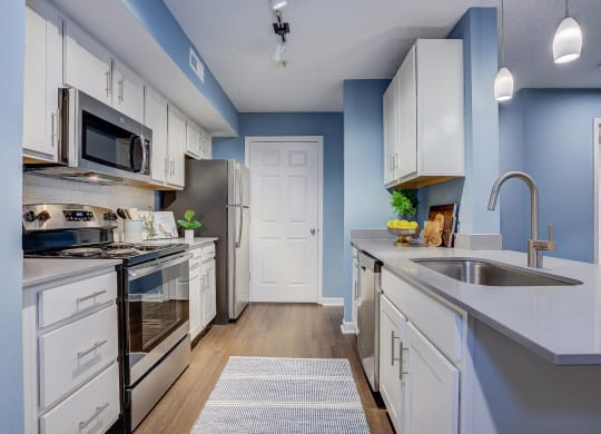 Modern Kitchen With Custom Cabinet at Sunscape Apartments, Roanoke, 24018