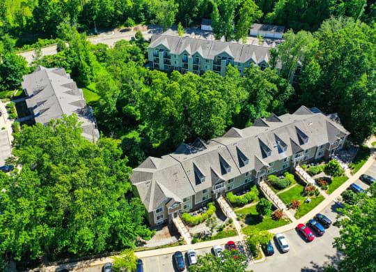 Aerial Community View at Tall Oaks Apartment Homes, Kalamazoo, MI, 49009