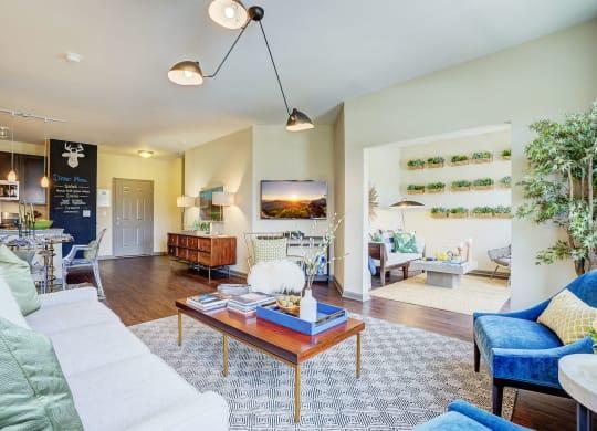 Decorated Living Rooms At  Bella Vista Apartments 10732 Bella Vista Drive Fishers IN 46038
