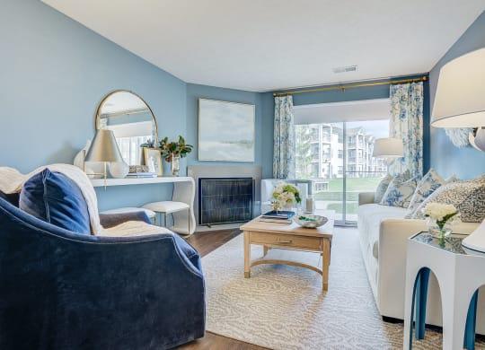 Patio View at Mallard Bay Apartments, Indiana