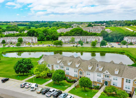Spectacular Aerial View Of The Property at West Hampton Park Apartment Homes, Elkhorn, NE, 68022