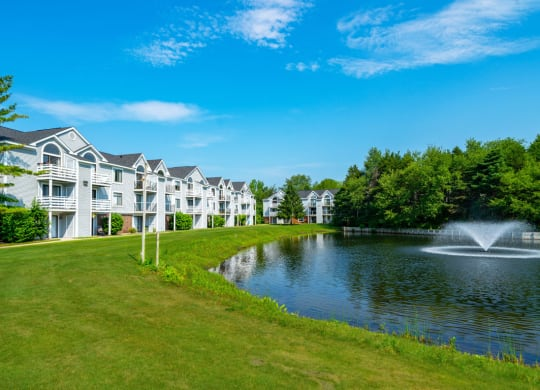 Breathtaking Pond Views at Windmill Lakes Apartments in Holland, MI