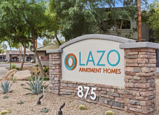 Lazo Apartments Monument Sign