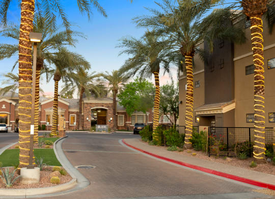 Zone Apartments Glendale, AZ Road Leading Up to Leasing Office