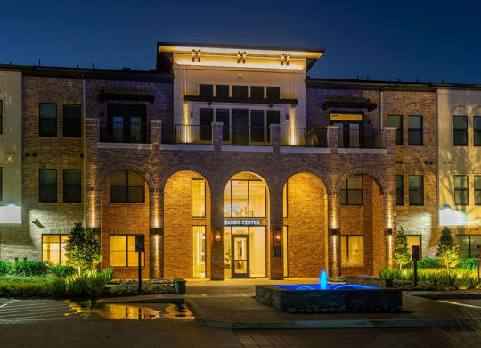 Leasing Center External View at Berkshire Exchange Apartments, Spring, Texas