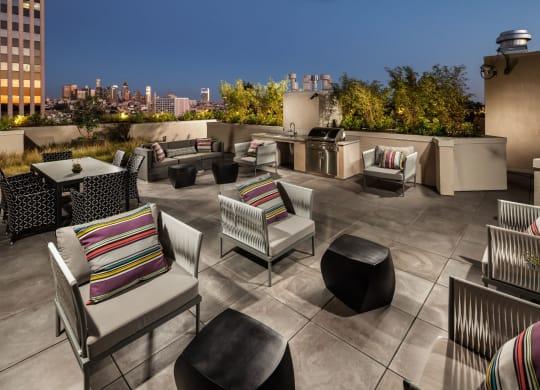 Rooftop Terrace Seating at Berkshire K2LA, Los Angeles, CA