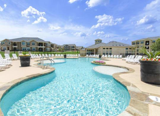 Crystal Clear Swimming Pool at Park at Briggs Ranch, San Antonio, 78245