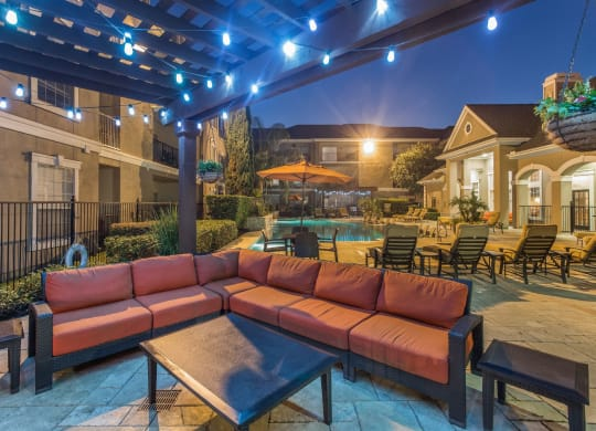 Outdoor Fireplace at Estates at Bellaire, Houston, TX, 77081