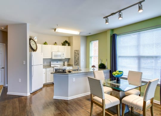 MetroPlace at Town Center Apartments 2 Bedroom 2 Bath Apartment Kitchen and Dining-4300 Telfair Blvd., Camp Springs MD