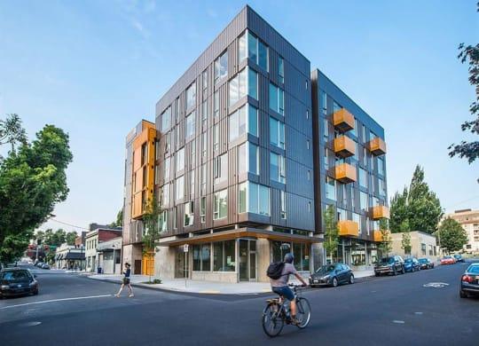 Elegant Exterior View at Lower Burnside Lofts, Portland, OR, 97214