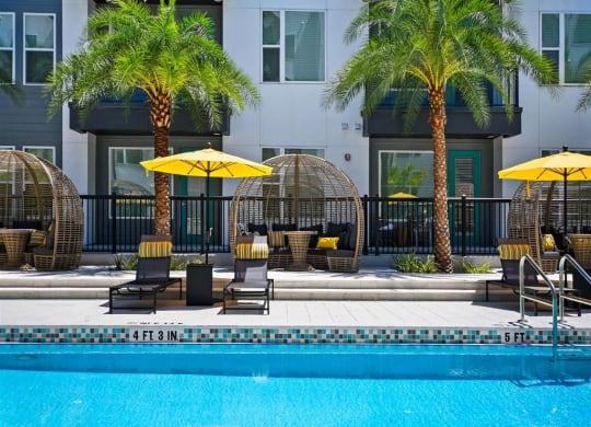 Poolside Lounge Area at Berkshire Winter Park, Winter Park, FL, 32789
