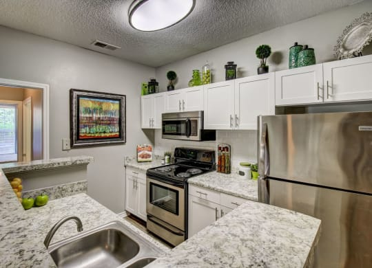 Spacious kitchen with stainless appliances at Wyndchase at Aspen Grove