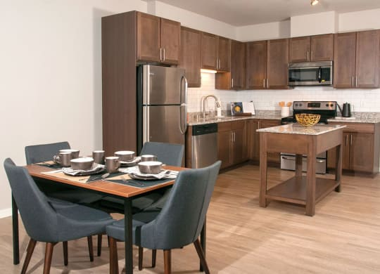 Brand New Luxury Studio, 1, 2 and 3 Bedroom Apartments with Chefs Kitchen with Prep Island and Dining and Home Office Space-Berkshire Central- 9436 Ulysses Street NE Blaine, MN. 55434