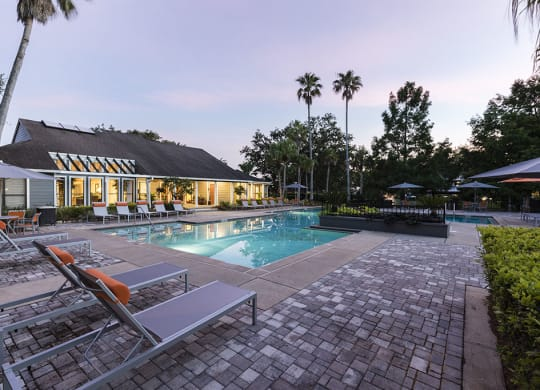 Pool with sundeck at Fountains at Lee Vista, Orlando, FL