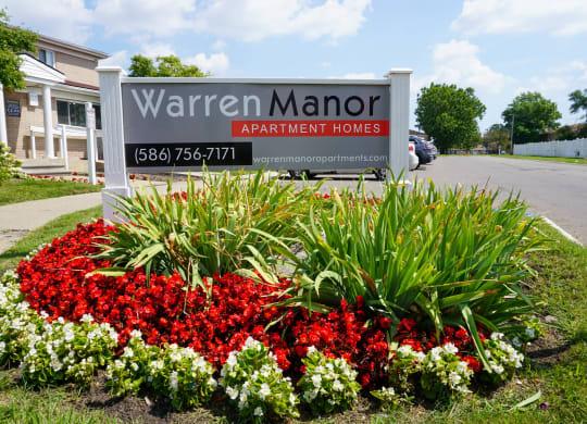 Warren Manor entrance sign, Warren Manor, Warren, Michigan
